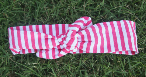 Pink Stripe Head Wrap