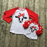 Red Polka Cow Shirt Mommy And Me
