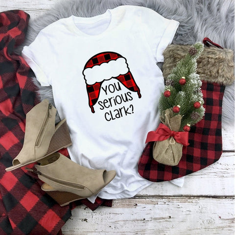 Red Buffalo Plaid You Serious Clark Hat Shirt Adult