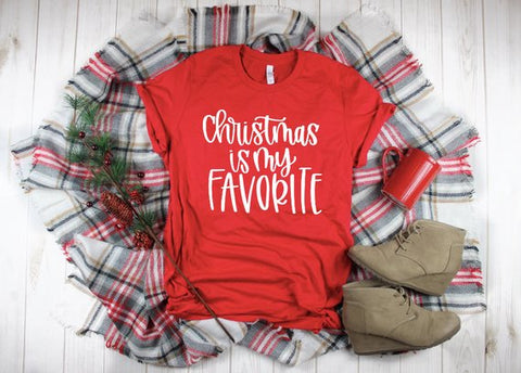 Red Christmas Is My Favorite Shirt Adult