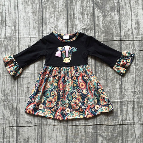 Paisley Cow Farm Life Ruffle Dress