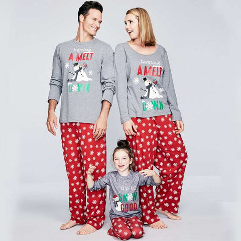 Matching Christmas Having A Meltdown Snowman Up To Snow Good Holiday Pajamas