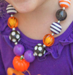 Chunky Gumball Pumpkin Necklace