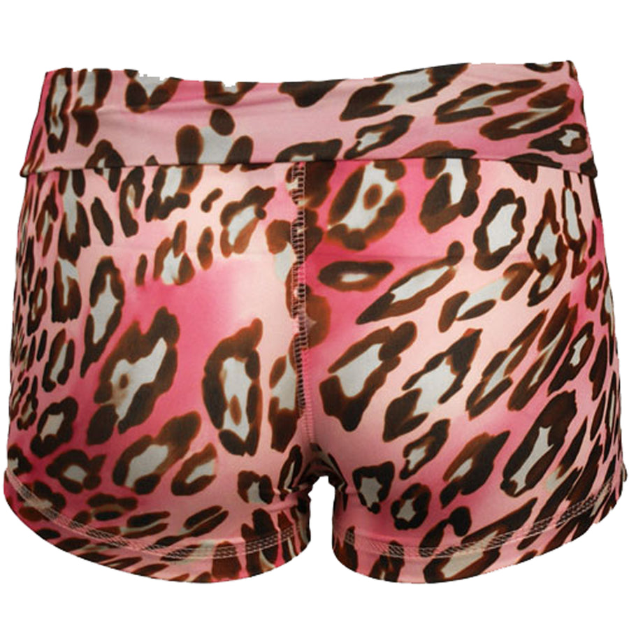 Booty Shorts in Pink Leopard