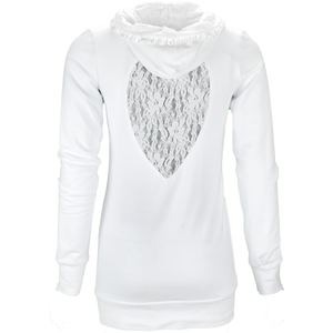 Hourglass Hoodie in Angel