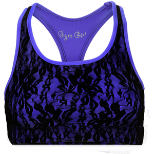 Lace Sports Bra in Regal