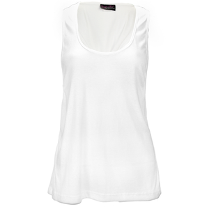 Tie Back Tank in White