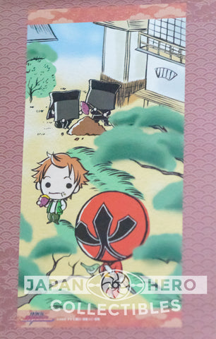 Bandai of Japan Samurai Sentai Shinkenger Mini Wall Scroll Shinken Red & Green