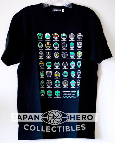 Premium Bandai Fashion 40th Anniversary Green/Black Heroes T-Shirt M-3XL