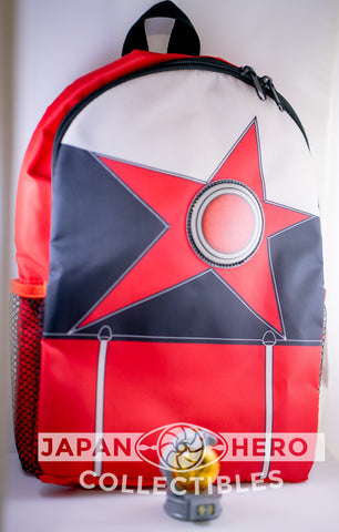 Bandai of Japan Uchu Sentai Kyuranger Childrens Backpack & Kajiki 09 Kyutama