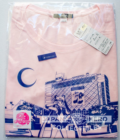 Bandai Fashion Shibuya Station Exclusive Sailor Moon Exclusive T-Shirt (Blue/Pink)