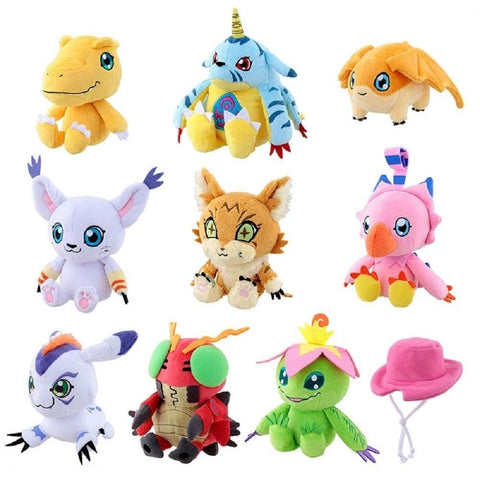 Bandai of Japan Limited Digimon Adventure Tri Train Plush Set of 10 (2000 Made)