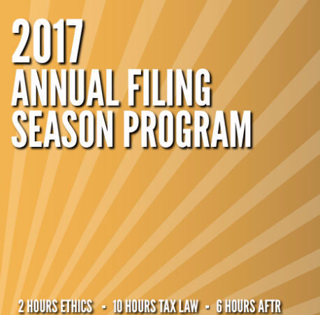 2017 Annual Filing Season Program-18 Hour eBook Course
