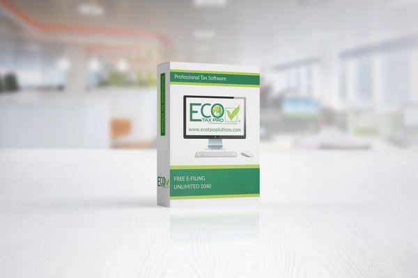 Eco Tax Pro Desktop Software 2020