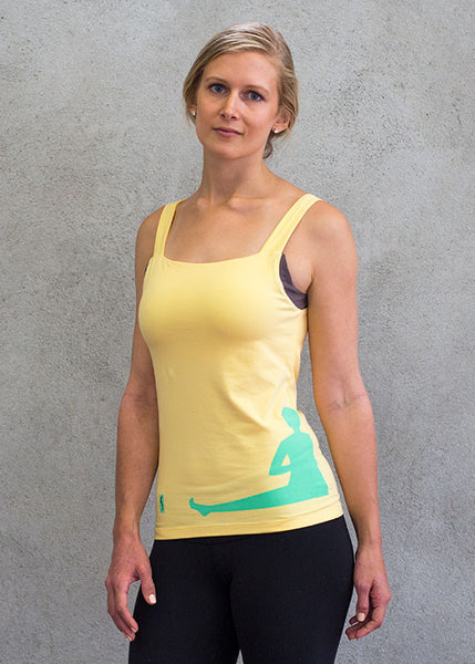 Women tank top yellow