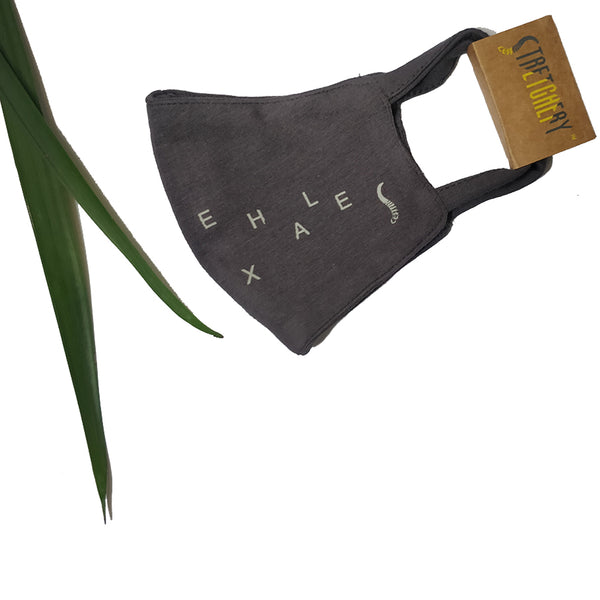 Inhale Exhale Bamboo Face Mask (Grey)
