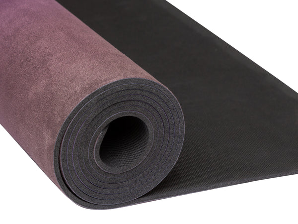 Yoga Essentials Natural Rubber & Microfiber Peacock Suede Yoga MatYoga Mats- Stretchery