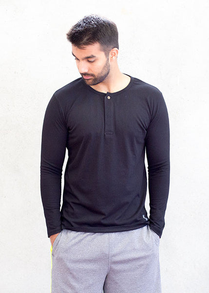Wear Anywhere Long Sleeve Henley T-ShirtT-shirts- Stretchery