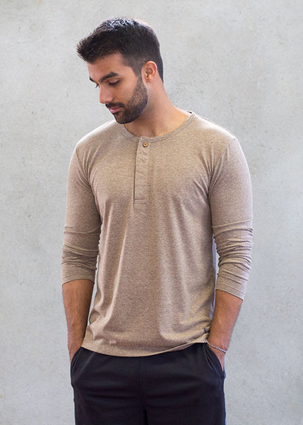 Get Ripped Long Sleeve Henley T-ShirtT-shirts- Stretchery