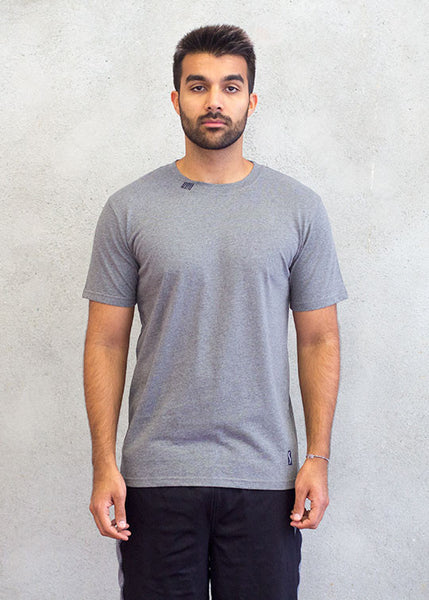Men round neck grey
