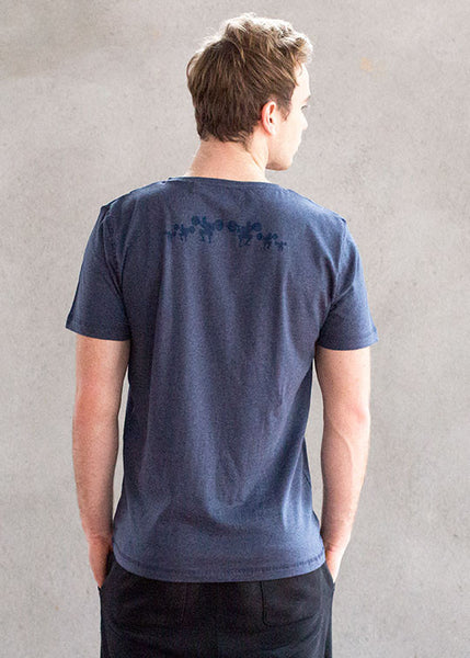 Core blue heathered v-neckT-shirts- Stretchery