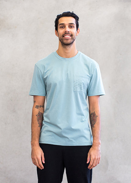 Relaxed Pocket Crew Neck Tee