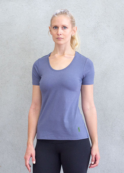 Trip On The Split Round Neck TopT-shirts- Stretchery
