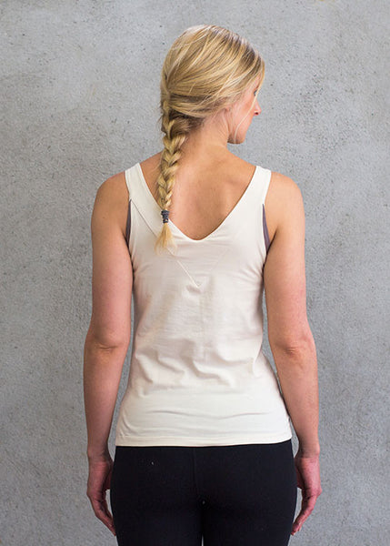 Cream Walk Tank TopT-shirts- Stretchery