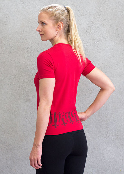 Women v-neck top red