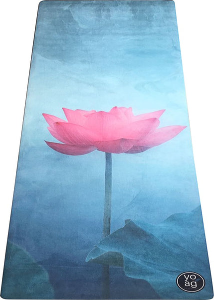 Yoga Essentials Natural Rubber & Microfiber Lotus Suede Yoga MatYoga Mats- Stretchery