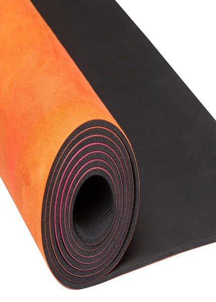 Yoga Essentials Natural Rubber & Microfiber Pink Diamond Suede Yoga Mat