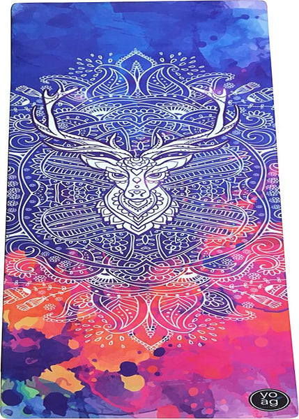 Yoga Essentials Natural Rubber & Microfiber Reindeer Suede Yoga Mat