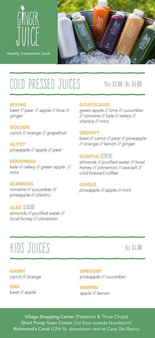 Ginger-Juice-Village-Menu