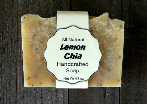 Lemon Chia Handcrafted Soap