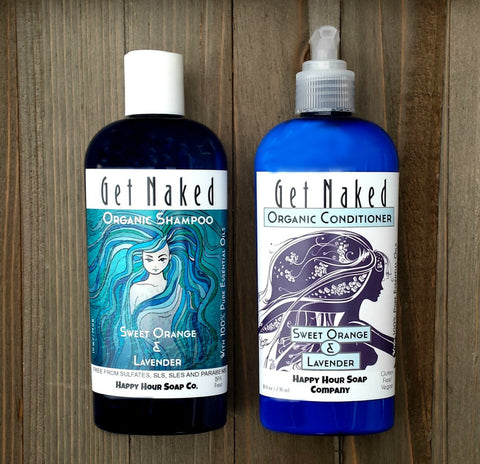 Organic Shampo & Conditioner Bundle - Sweet Orange and Lavender