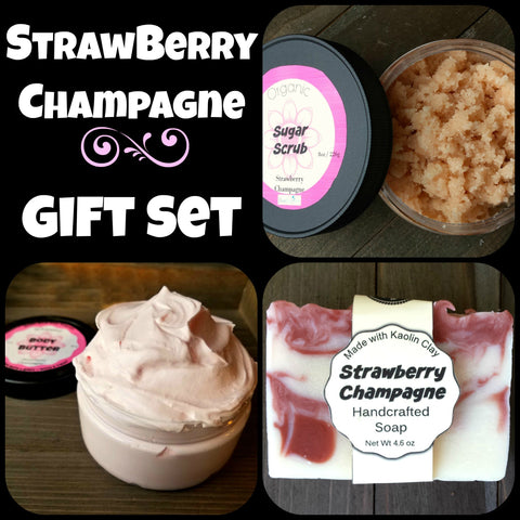 Strawberry Champagne Gift Set Package