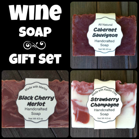 Wine Soap Gift Set Package