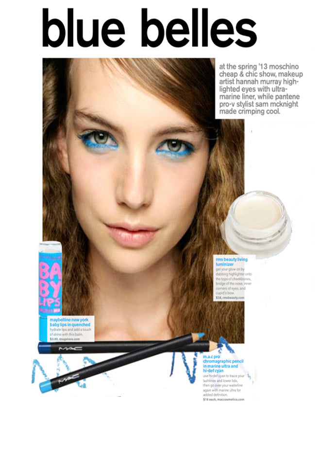 april 2013 nylon magazine featuring rms beauty living luminizer