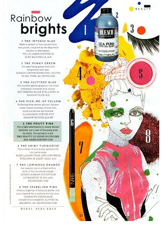 december 2013 sunday times style featuring rms beauty lip shine in sublime