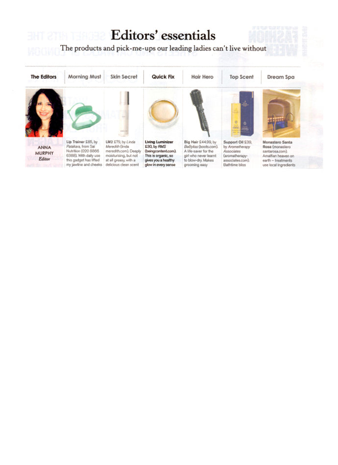september 2013 stella magazine featuring rms beauty living luminizer
