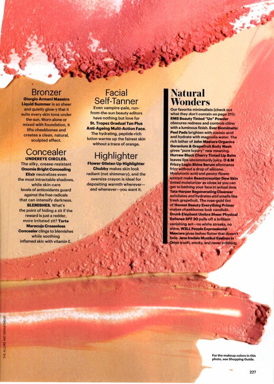 october 2015 allure magazine featuring rms beauty tinted un powder