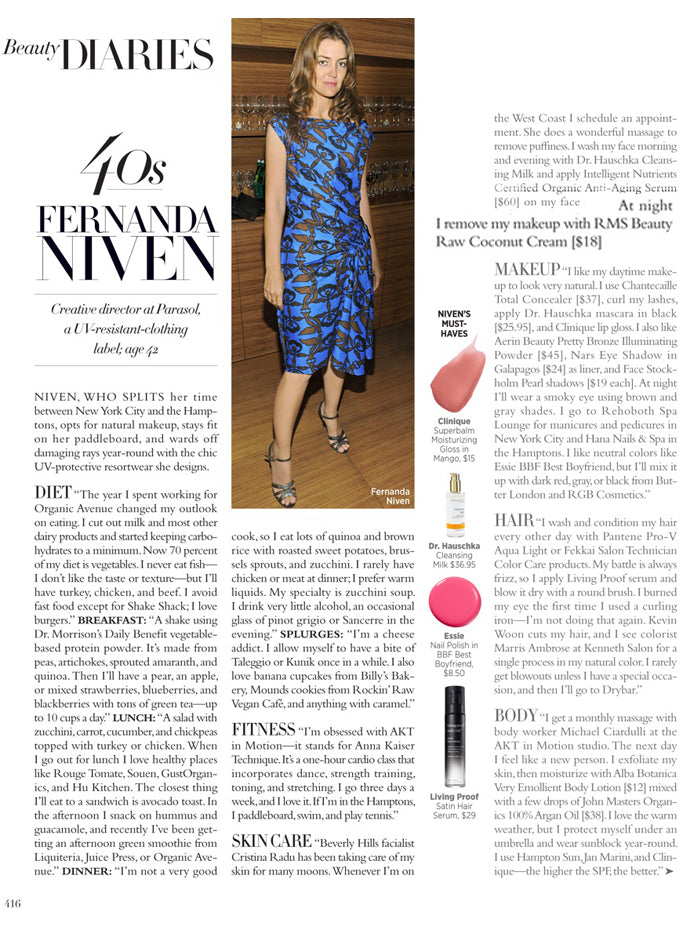 march 2014 harpers bazaar featuring rms beauty raw coconut cream