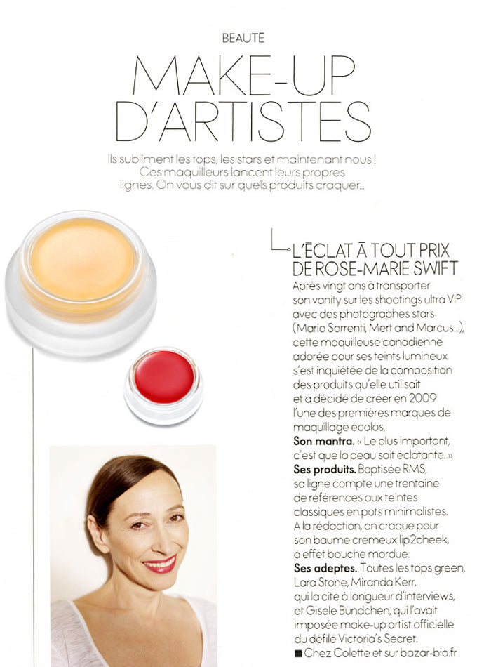 february 2014 elle france featuring rms beauty and rose-marie swift