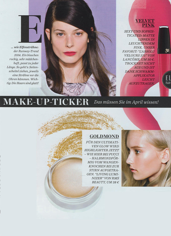 march 2014 elle germany featuring rms beauty living luminizer