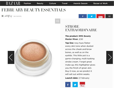 february 2016 harpers bazaar featuring rms beauty master mixer