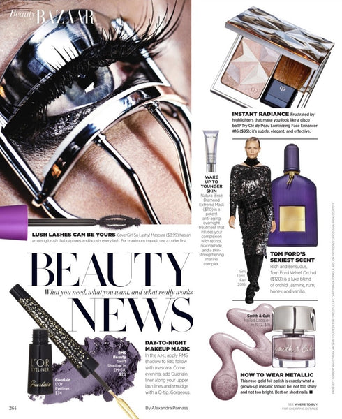December 2016 Harpers Bazaar featuring RMS Beauty