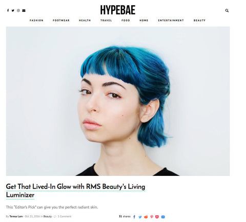 October 2016 Hypebae featuring RMS Beauty Living Luminizer