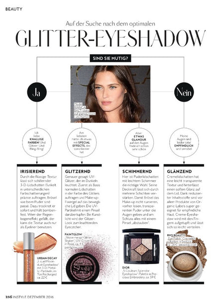 December 2016 InStyle Germany featuring RMS Beauty