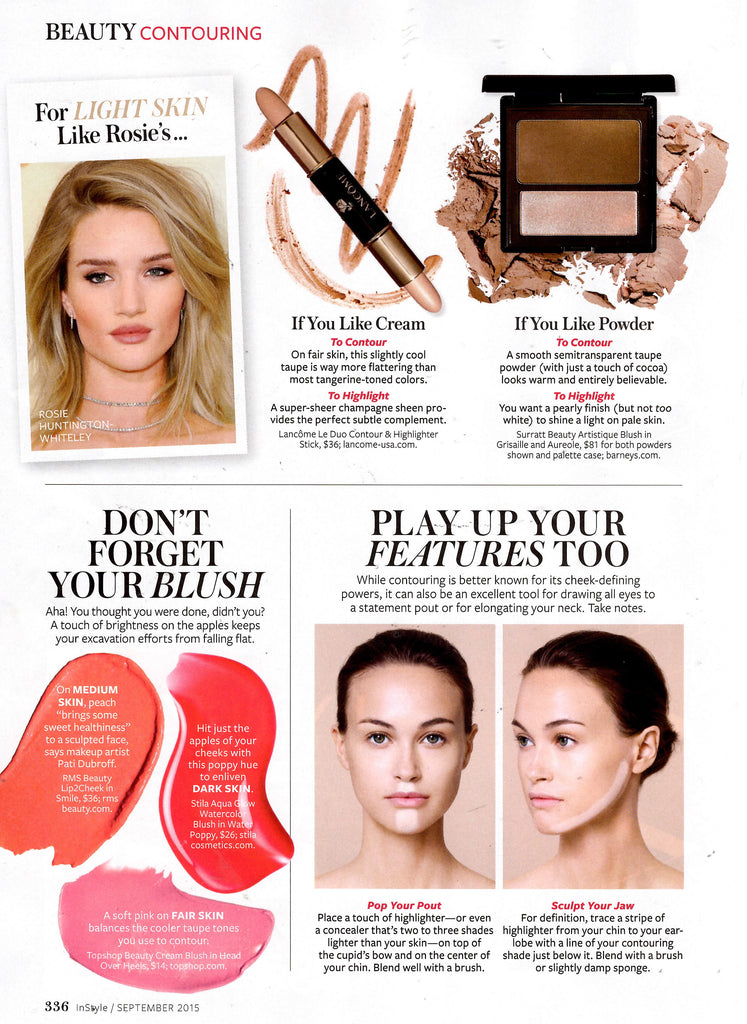 september 2015 instel magazine featuring rms beauty lip2cheek in smile