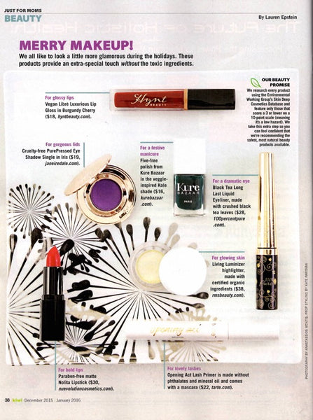 janaury 2016 kiwi magazine featuring rms beauty living luminizer